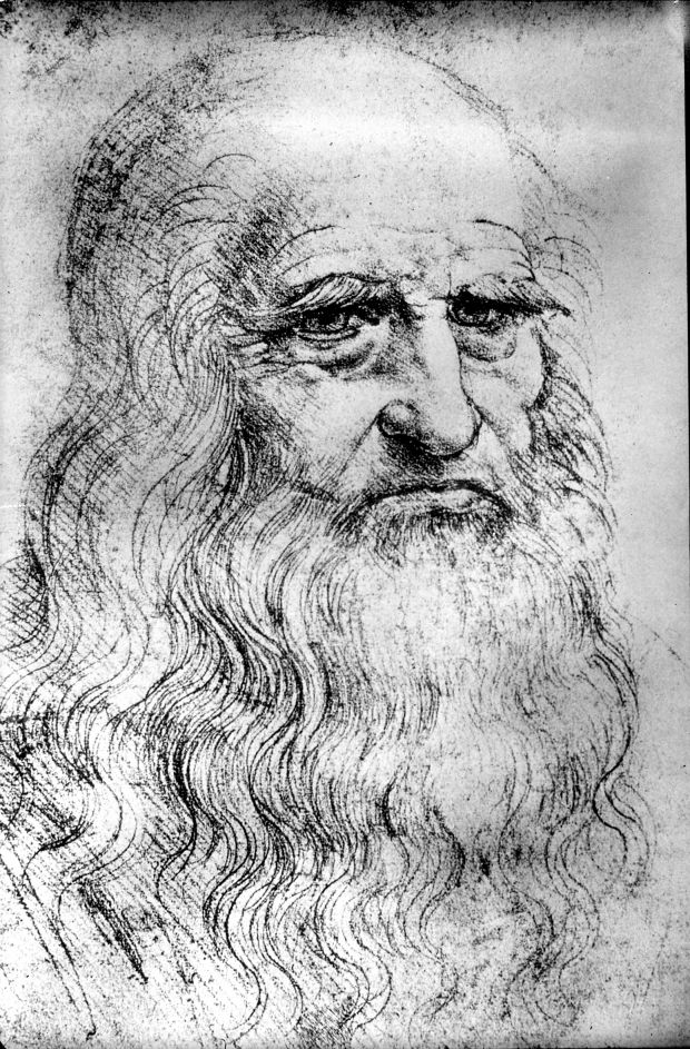 Drawing of an Old Man, Possibly Leonardo, by the Artist Himself