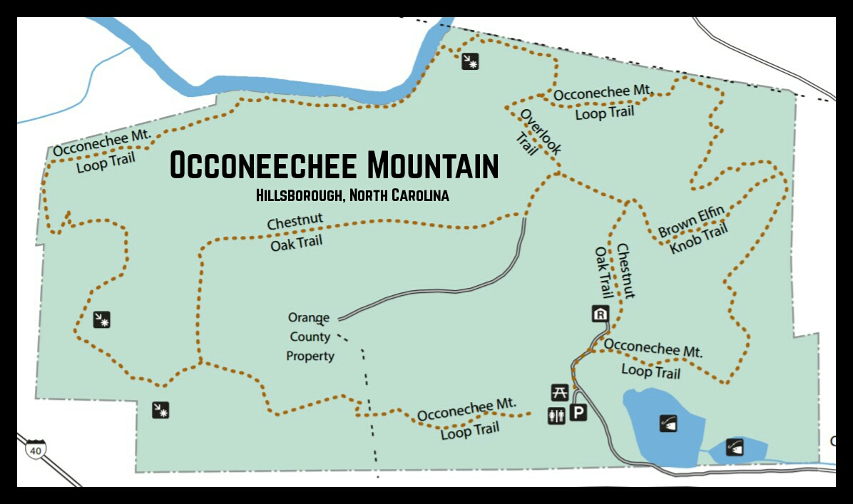 Map of Occoneechee Mountain State Natural Area