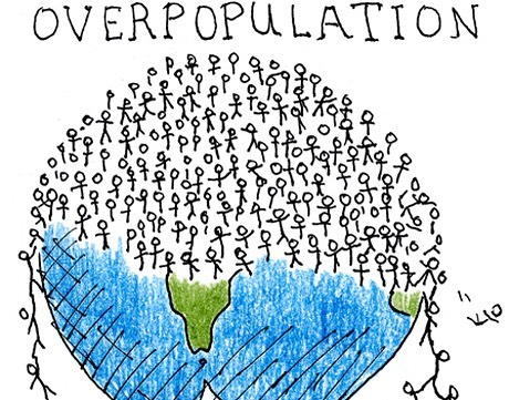 Illustration of human overpopulation