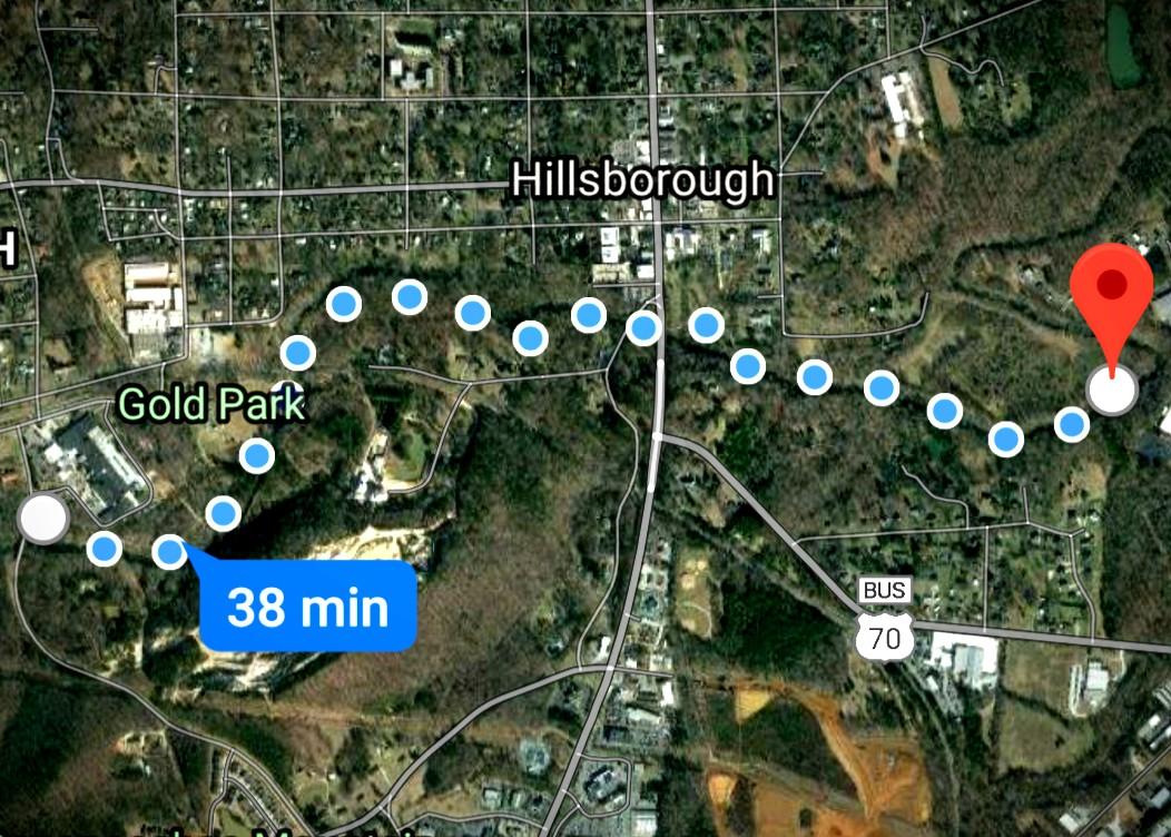 map of Hillsborough, NC