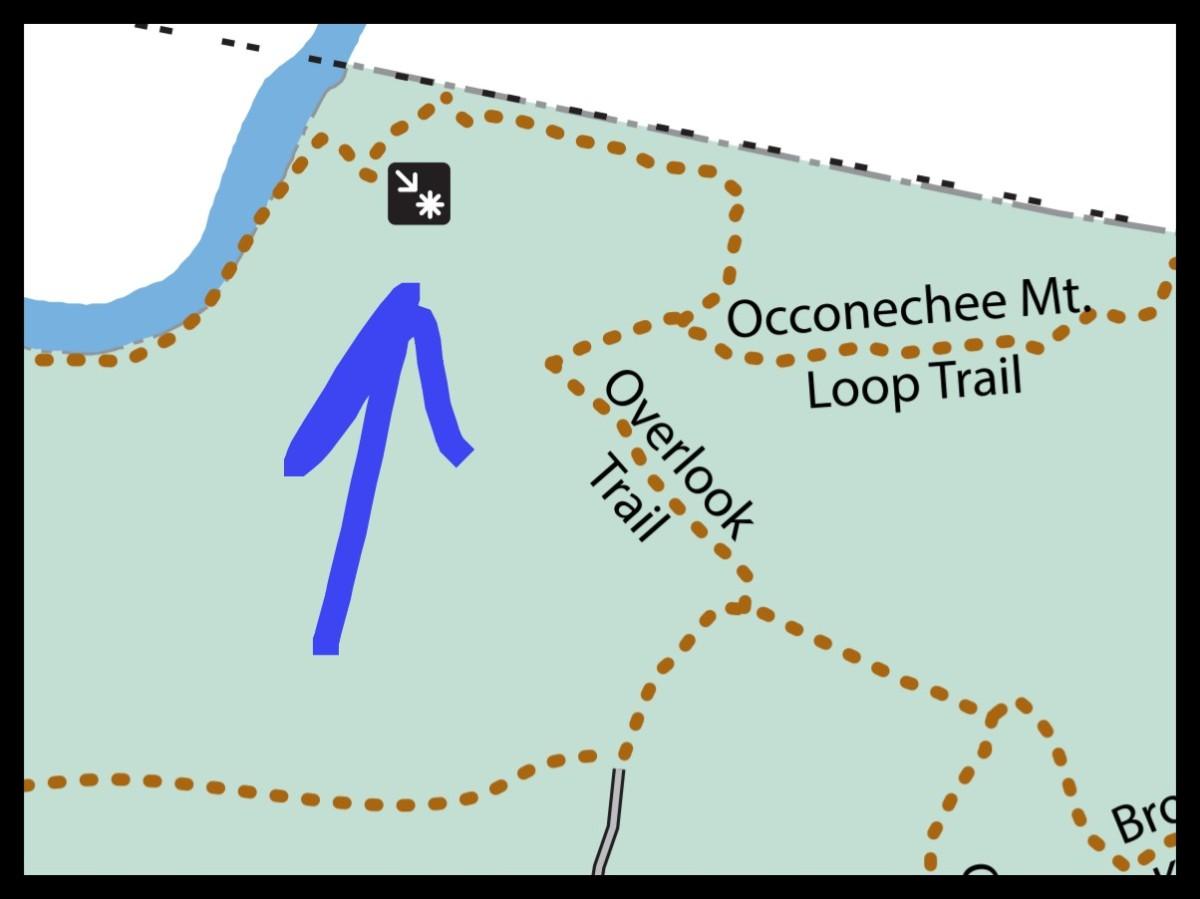 Map of Occoneechee Quarry