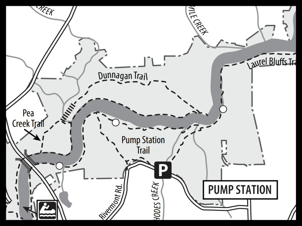 Map of Pump Station Trail at Eno River State Park