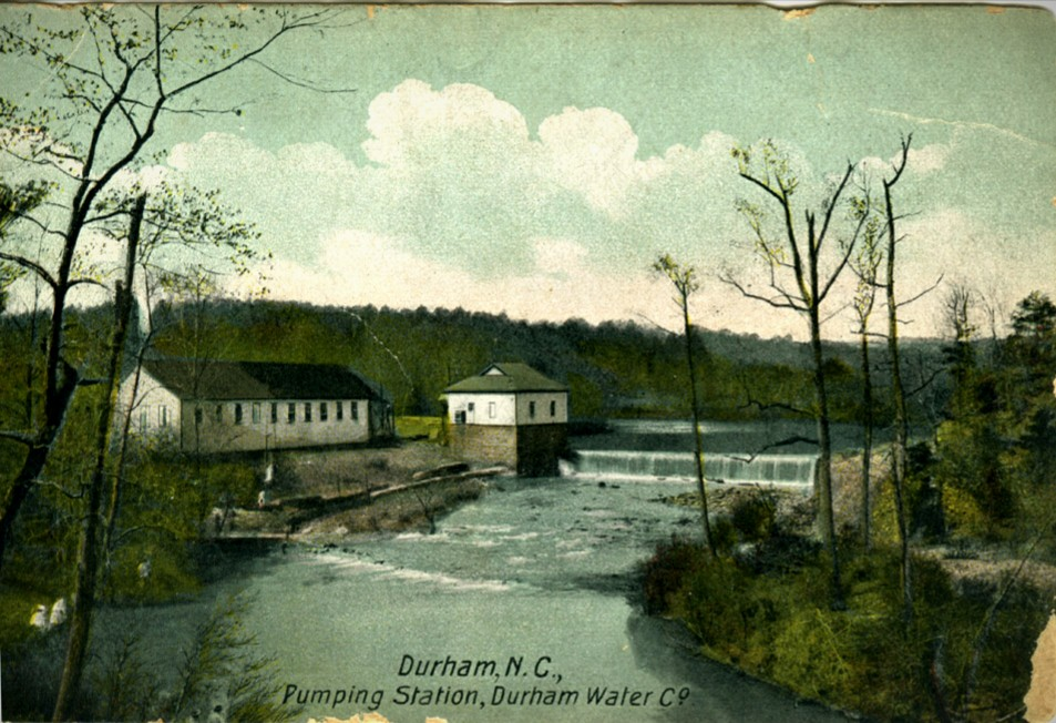 Historic view of Water Pumping Station in Durham, NC