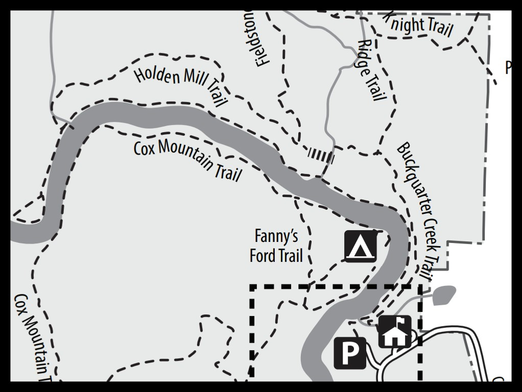 Map of Holden Mill Trail at Eno River State Park