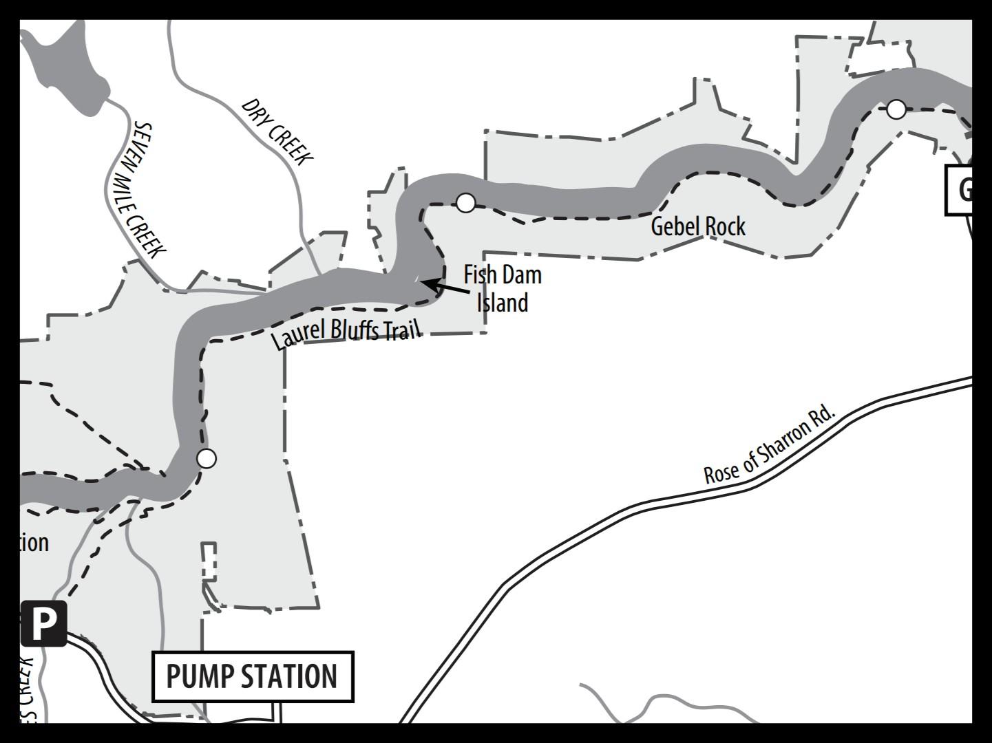 Map of Laurel Bluffs Trail