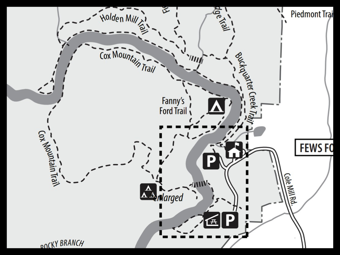Map of Cox Mountain Trail