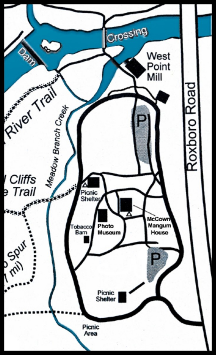 Map of West Point on the Eno City Park