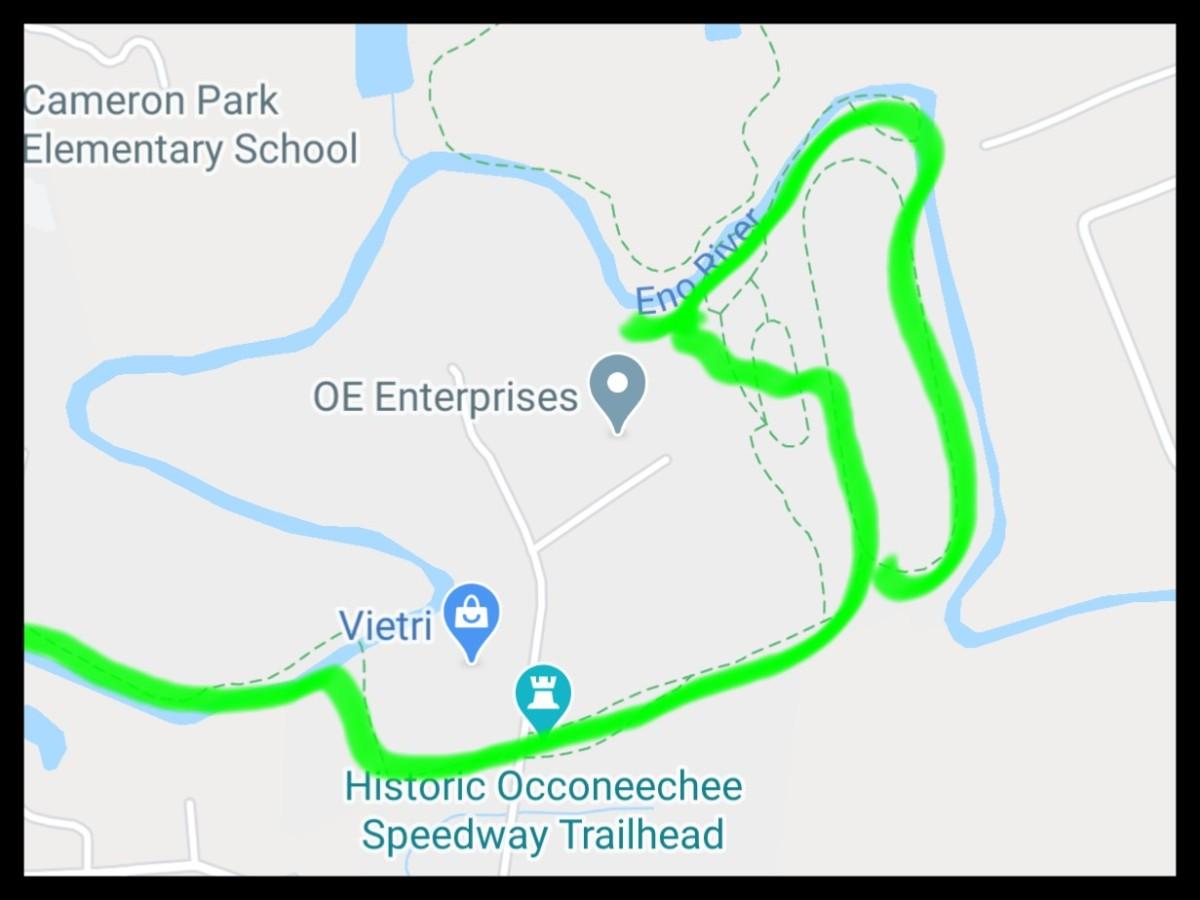 Map of Occoneechee Speedway