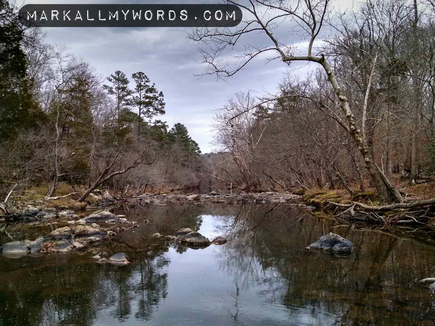 Eno River near the old site of Cabe Mill