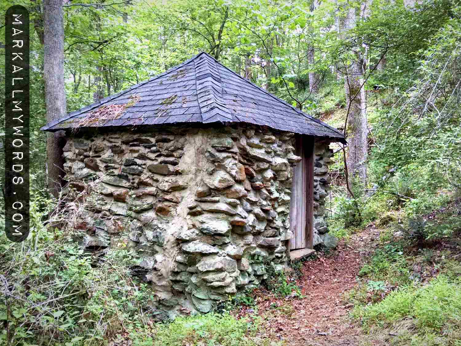 Springhouse near ruins of Cole Mill