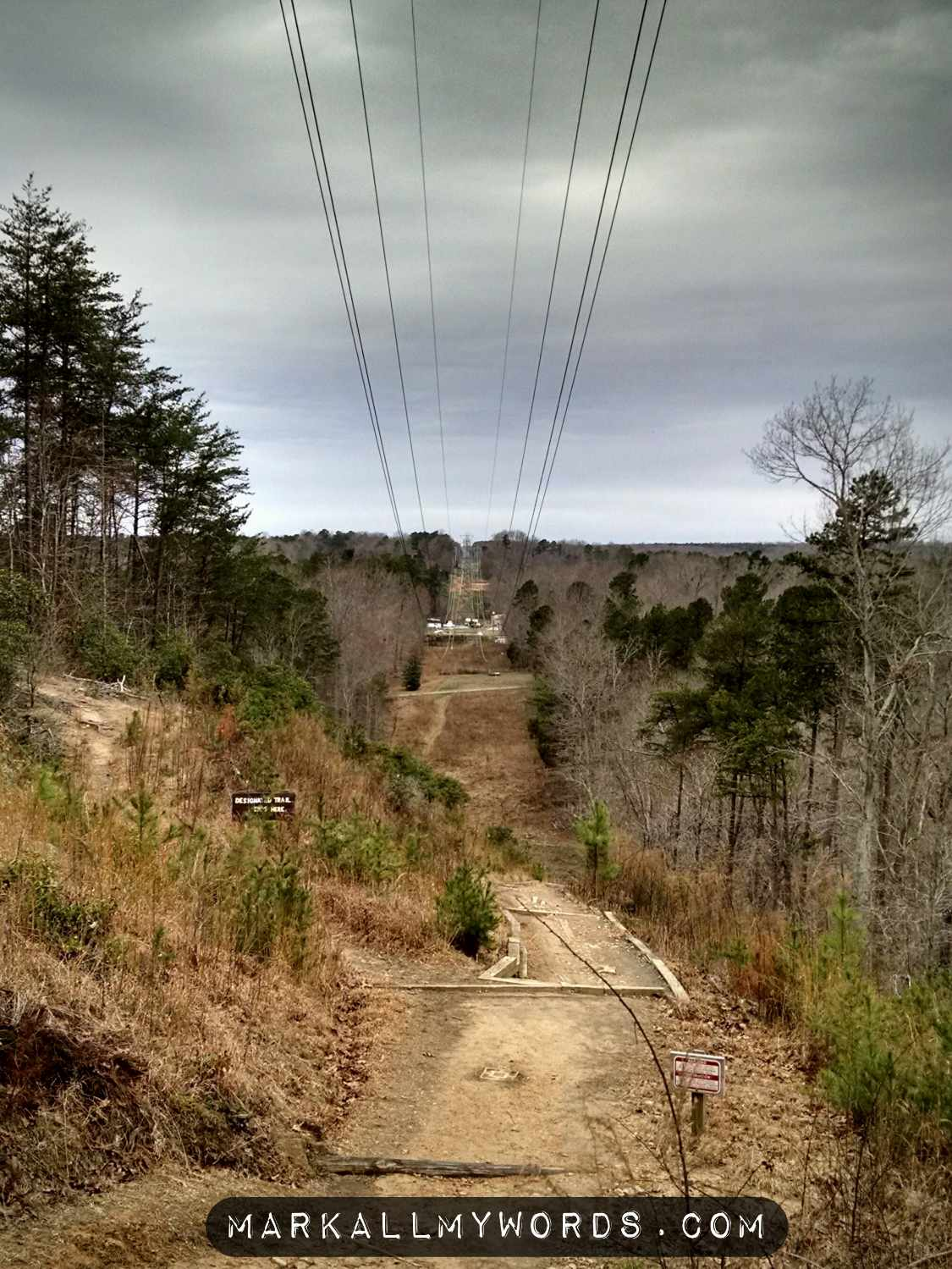 Clearcut passing over Occoneechee Mountain Trail