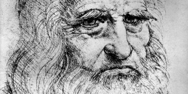 Presumptive sketch of Leonardo da Vinci