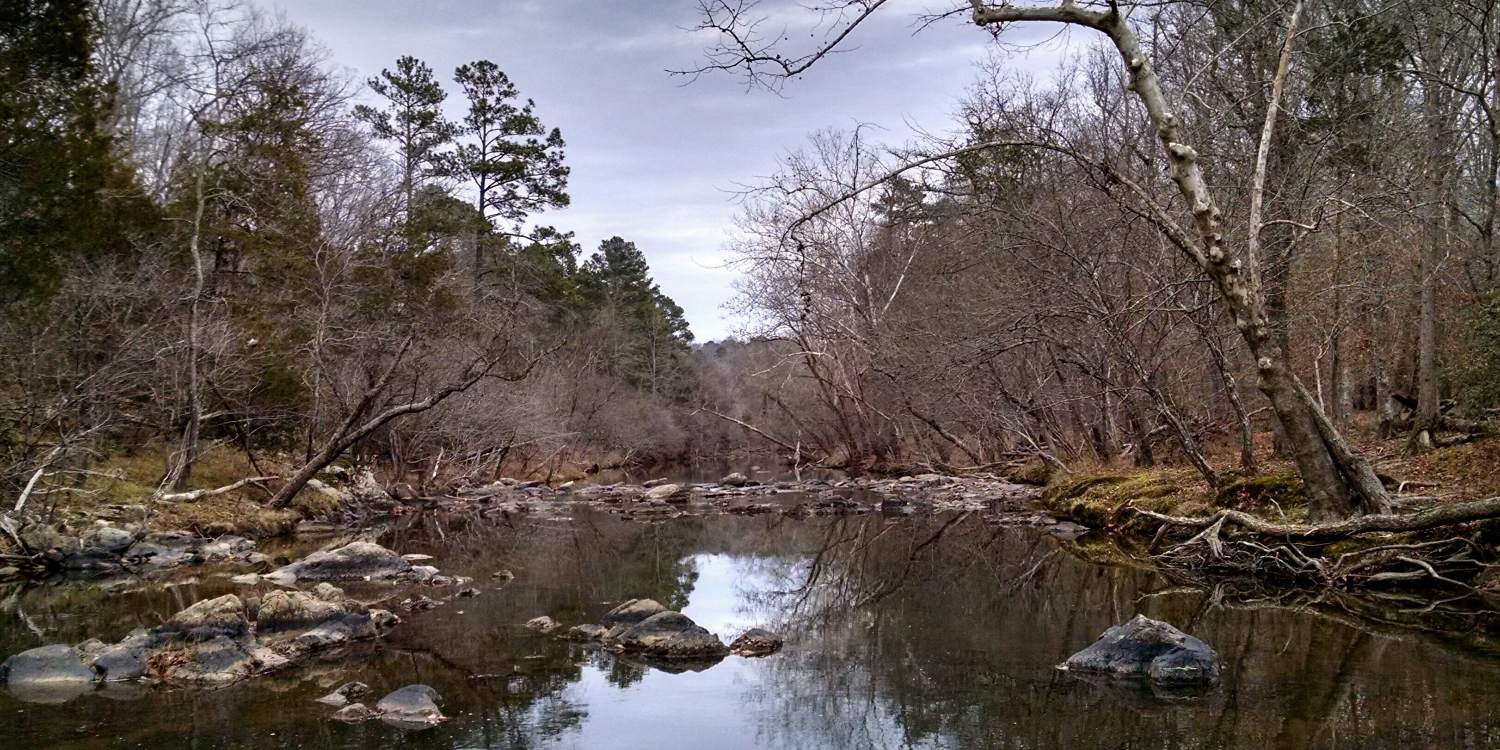 Eno River near the site of Cabe Mill at Eno River State Park