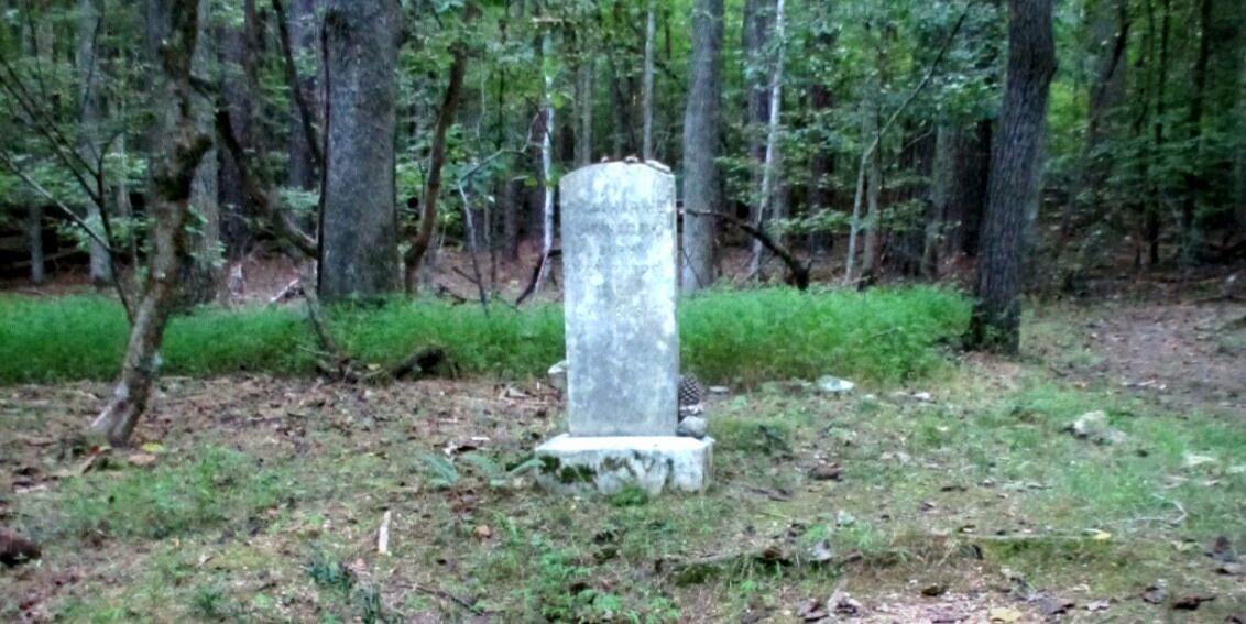 Gravestone of Catharine Link Dunnagan, namesake of Dunnagan Trail