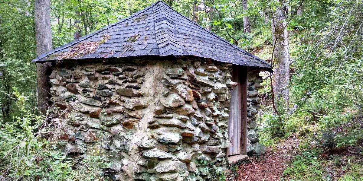Springhouse near ruins of Cole Mill at Eno River State Park