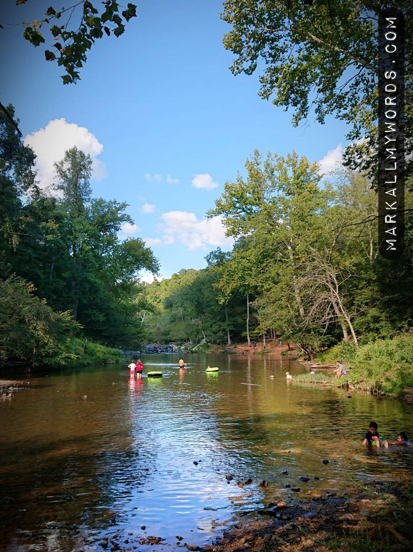 Eno River at Fews Ford in summer