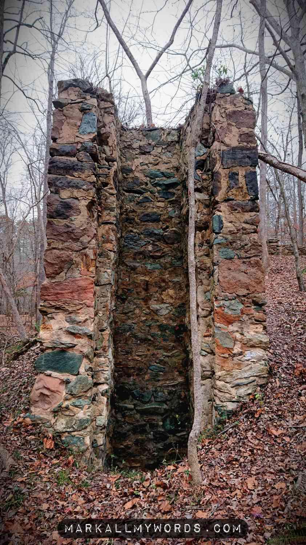 Old abandoned shaft spillway