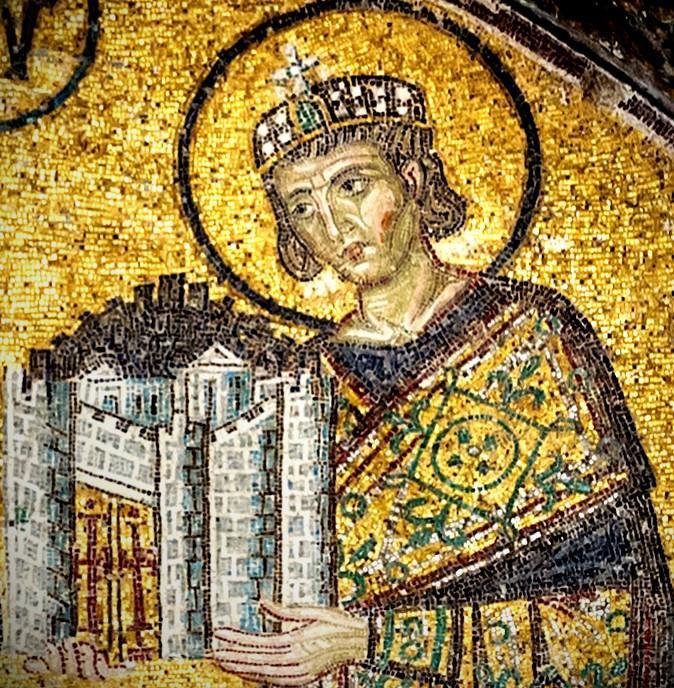 Mosaic of Constantine, the Roman Emperor