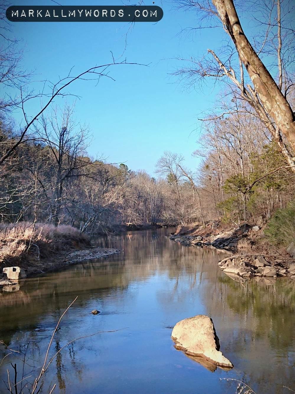 Eno River by Laurel Bluffs Trail