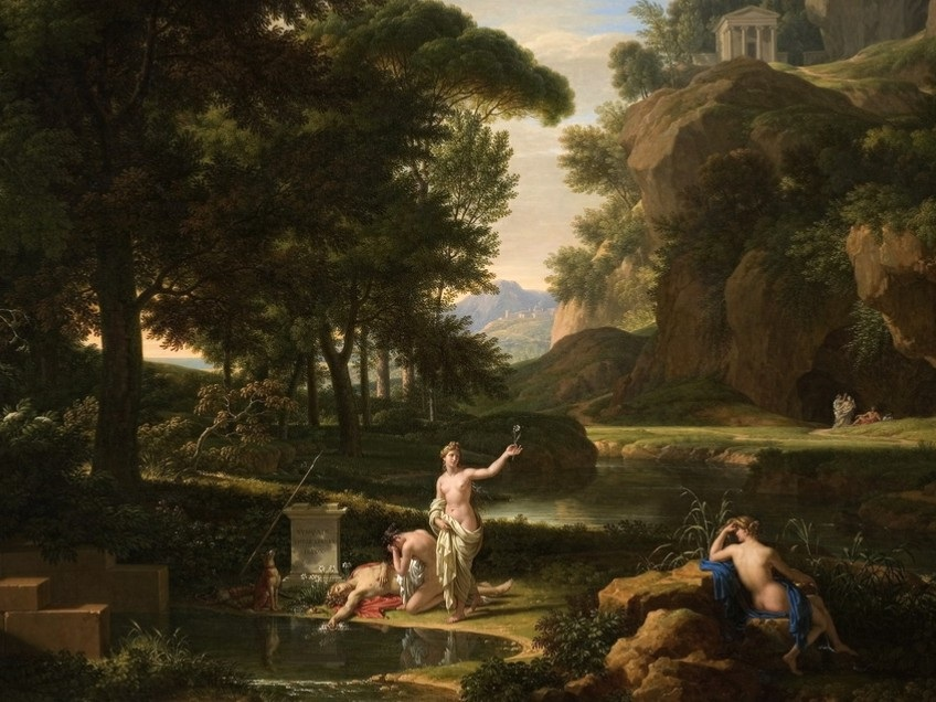 Painting of Death of Narcissus