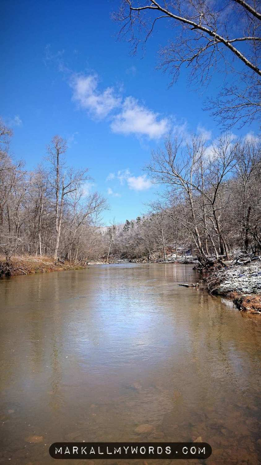 Eno River at Fews Ford in winter