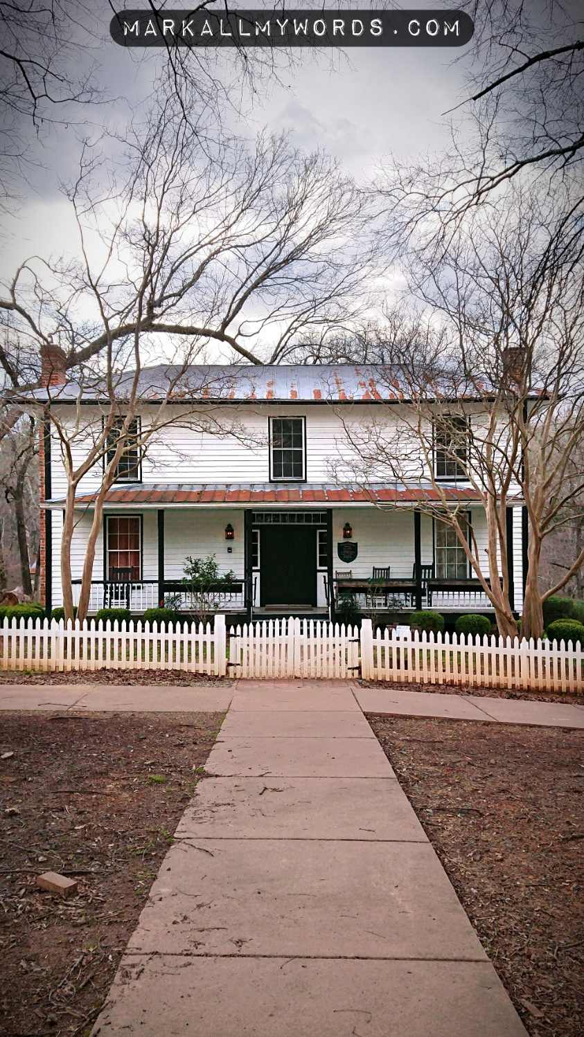 McCown-Mangum House, with sidewalk and picket fence
