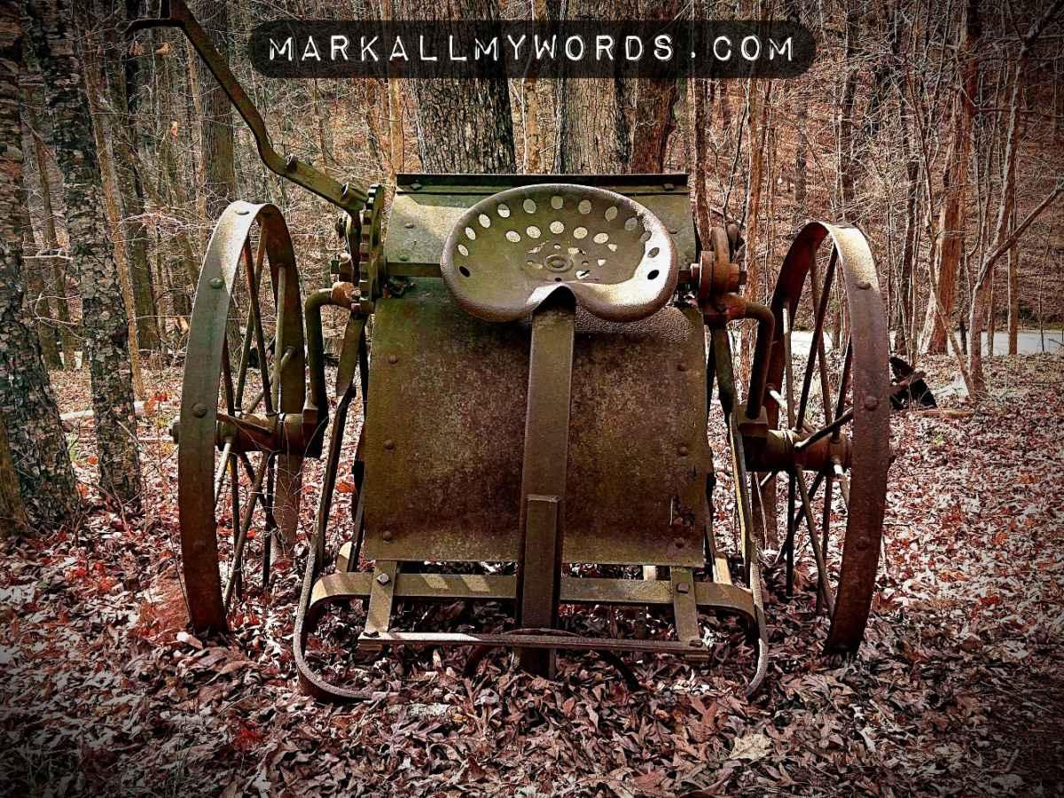 Rusty old farming equipment