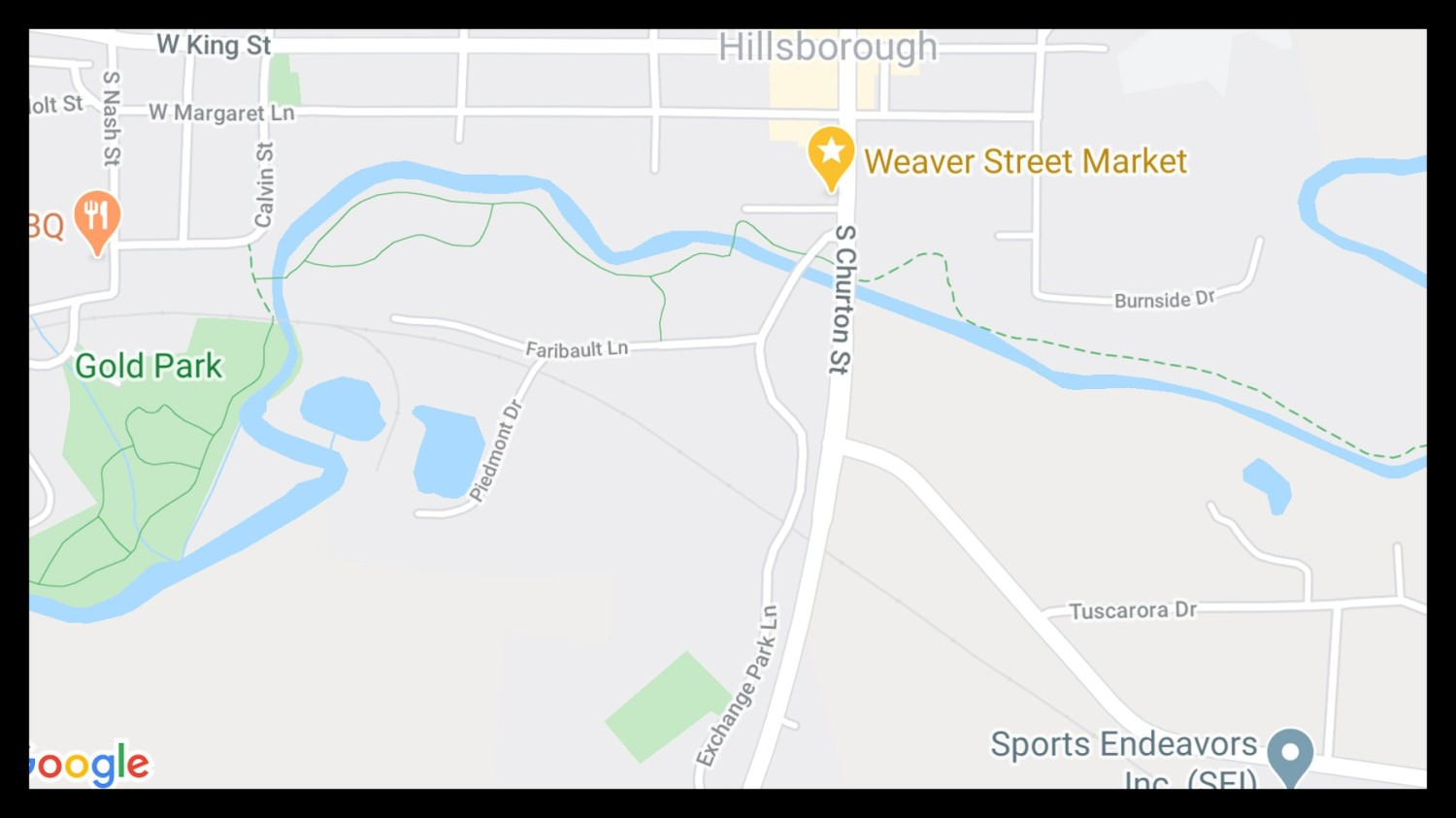 Map of Hillsborough Riverwalk