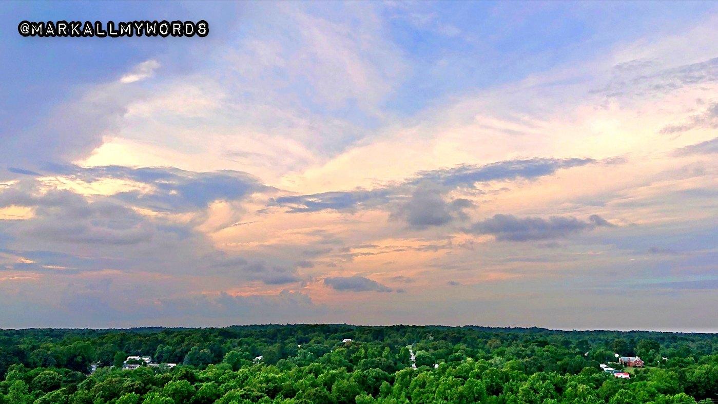 Sunset over Hillsborough, NC
